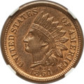 Indian Cents: , 1864 1C Bronze No L MS66 Red and Brown NGC. CAC. NGC Census:(68/5). PCGS Population (25/0). Mintage: 39,233,712. Numismedi...