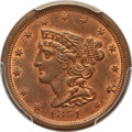 Half Cents: , 1851 1/2 C MS64 Red and Brown PCGS. PCGS Population (14/2). NGCCensus: (14/2). Mintage: 147,672. Numismedia Wsl. Price for...