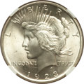 Peace Dollars: , 1923 $1 MS66 NGC. CAC. NGC Census: (2973/89). PCGS Population(1700/46). Mintage: 30,800,000. Numismedia Wsl. Price for pro...