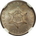 Three Cent Silver: , 1851 3CS MS65 NGC. CAC. NGC Census: (177/79). PCGS Population(176/121). Mintage: 5,447,400. Numismedia Wsl. Price for prob...
