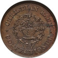 Civil War Merchants, 1863 Christian Rauh, New York NY MS64 Brown NGC. Fuld-NY630BH-2a,R.2....