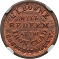 Civil War Merchants, (1861-65) G.L. Bowne, Cooperstown NY -- Improperly Cleaned -- NGCDetails. Unc. Fuld-NY145B-1a2, R.4....