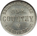 Civil War Merchants, 1863 Broas Pie Baker, New York NY MS64 NGC. Fuld-NY630M-9c, R.9....
