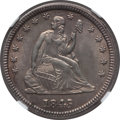 Seated Quarters: , 1845 25C MS61 NGC. NGC Census: (7/49). PCGS Population (2/41).Mintage: 922,000. Numismedia Wsl. Price for problem free NGC...