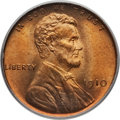 Lincoln Cents: , 1910 1C MS66 Red PCGS. PCGS Population (140/20). NGC Census:(82/14). Mintage: 146,801,216. Numismedia Wsl. Price for probl...
