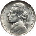 """Jefferson Nickels, Complete Set of 11 Business Strike Silver-Alloy """"War Nickels"""" MS67NGC. Includes the 1942-P, 1942-S, 1943-P, 1943-D, 1943-... (Total:11 coins)"""
