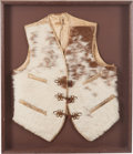 Western Expansion, Shadow-Box Framed Leather Cowhide Western Vest....