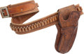 Western Expansion, Scarce Western Cartridge Money Belt and Jock Strap Holster Ensembleby S.D. Myres, El Paso, Texas. ...