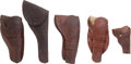 Arms Accessories, Lot of Five Assorted Western Holsters.... (Total: 5 Items)
