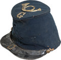 Militaria:Uniforms, Civil War US M1858 Infantry Enlisted Man's Forage Cap with Original Insignia. ...