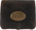 Arms Accessories, Scarce US Issue Rifleman's Cartridge Box With Oval US Plate. ...