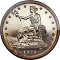 Proof Trade Dollars, 1879 T$1 PR65 Cameo PCGS. CAC....