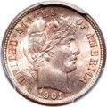 Barber Dimes, 1901-S 10C MS66 PCGS. CAC....
