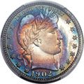 Proof Barber Quarters, 1902 25C PR67 PCGS. CAC....