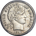 Barber Dimes, 1895-O 10C -- Cleaning -- PCGS Genuine. Unc. Details....