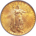 Saint-Gaudens Double Eagles, 1915-S $20 MS66 PCGS....