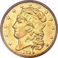 Early Half Eagles, 1834 $5 Capped Head, Crosslet 4 XF40 PCGS. BD-2, R.5....