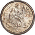 Seated Dimes, 1877-CC 10C MS66 PCGS....
