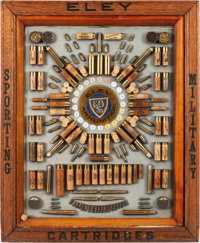 Rare Antique English Antique Ammunition Cartridge Display Board by Eley Brothers