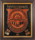 Ammunition, Antique Ammunition Cartridge Display Board by United StatesCartridge Company....