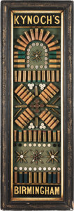 Ammunition, Rare English Antique Ammunition Cartridge Display Board by Kynoch, Birmingham....