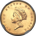 Gold Dollars, 1855 G$1 MS64 NGC....