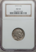 Buffalo Nickels: , 1915-S 5C AU53 NGC. NGC Census: (9/488). PCGS Population (20/720).Mintage: 1,505,000. Numismedia Wsl. Price for problem fr...
