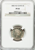 Proof Liberty Nickels: , 1883 5C No Cents PR65 NGC. NGC Census: (255/111). PCGS Population(300/90). Mintage: 5,219. Numismedia Wsl. Price for probl...