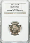 Proof Liberty Nickels: , 1883 5C With Cents PR64 Cameo NGC. NGC Census: (34/92). PCGSPopulation (30/89). ...