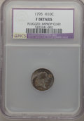 Early Half Dimes: , 1795 H10C -- Improperly Cleaned, Plugged -- NCS. Fine Details. NGCCensus: (9/334). PCGS Population (14/475). Mintage: 78,6...