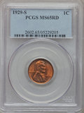 Lincoln Cents: , 1929-S 1C MS65 Red PCGS. PCGS Population (235/21). NGC Census:(146/25). Mintage: 50,148,000. Numismedia Wsl. Price for pro...
