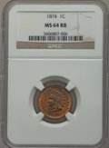 Indian Cents: , 1874 1C MS64 Red and Brown NGC. NGC Census: (154/130). PCGSPopulation (264/92). Mintage: 14,187,500. Numismedia Wsl. Price...