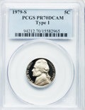Proof Jefferson Nickels: , 1979-S 5C Type One PR70 Deep Cameo PCGS. PCGS Population (48). NGCCensus: (10). Numismedia Wsl. Price for problem free NG...