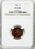 Proof Indian Cents: , 1894 1C PR65 Red and Brown NGC. NGC Census: (39/11). PCGS Population (27/0). Mintage: 2,632. Numismedia Wsl. Price for prob...