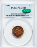 Proof Indian Cents: , 1901 1C PR65 Red and Brown PCGS. CAC. PCGS Population (72/37). NGCCensus: (61/30). Mintage: 1,985. Numismedia Wsl. Price f...