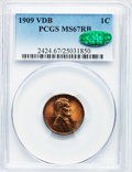 Lincoln Cents: , 1909 VDB 1C MS67 Red and Brown PCGS. CAC. PCGS Population (4/0).NGC Census: (26/0). Mintage: 27,995,000. Numismedia Wsl. P...