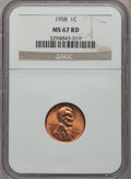 Lincoln Cents: , 1958 1C MS67 Red NGC. NGC Census: (156/1). PCGS Population (23/0).Mintage: 253,400,656. Numismedia Wsl. Price for problem ...