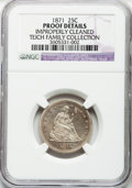 Proof Seated Quarters: , 1871 25C -- Improperly Cleaned -- NGC Details. Proof. NGC Census:(2/108). PCGS Population (5/130). Mintage: 960. Numismedi...