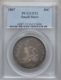 Bust Half Dollars: , 1807 50C Capped Bust, Small Stars Fine 12 PCGS. PCGS Population(7/82). Numismedia Wsl. Price for probl...