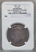 Bust Half Dollars, 1809 50C Normal Edge, O-105, R.3 -- Cleaned, Obverse Scratched --NGC Details. AU. NGC Census: (31/490). PCGS Population (5...