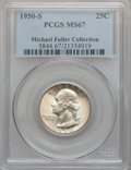 Washington Quarters: , 1950-S 25C MS67 PCGS. Ex: Michael Fuller Collection. PCGSPopulation (68/0). NGC Census: (222/2). Mintage: 10,284,004.Numi...