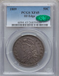 Bust Half Dollars: , 1809 50C III Edge XF45 PCGS. CAC. PCGS Population (22/56). NGCCensus: (15/215). Numismedia Wsl. Price for problem free NG...
