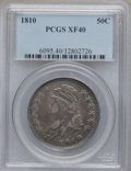 Bust Half Dollars: , 1810 50C XF40 PCGS. PCGS Population (102/390). NGC Census:(44/505). Mintage: 1,276,276. Numismedia Wsl. Price for problem ...