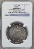 Bust Half Dollars, 1810 50C O-101a -- Improperly Cleaned -- NGC Details. AU. NGCCensus: (44/390). PCGS Population (59/249). Mintage: 1,276,27...