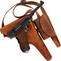 Handguns:Semiautomatic Pistol, Swiss Mauser 06/34 Luger Semi-Automatic Pistol with Holster....
