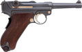 Handguns:Semiautomatic Pistol, Rare French Marked DWM Model P08 Luger Semi-Automatic Pistol....