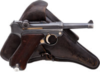 German Mauser K Date Model P08 S42 Luger Semi-Automatic Pistol with Holster