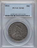Bust Half Dollars: , 1814 50C XF40 PCGS. PCGS Population (72/366). NGC Census: (29/491).Mintage: 1,039,075. Numismedia Wsl. Price for problem f...