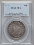 Bust Half Dollars: , 1813 50C XF45 PCGS. PCGS Population (75/322). NGC Census: (70/559).Mintage: 1,241,903. Numismedia Wsl. Price for problem f...