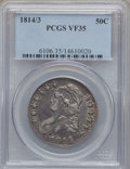 Bust Half Dollars: , 1814/3 50C VF35 PCGS. PCGS Population (16/112). NGC Census:(5/401). Numismedia Wsl. Price for problem free NGC/PCGS coin ...